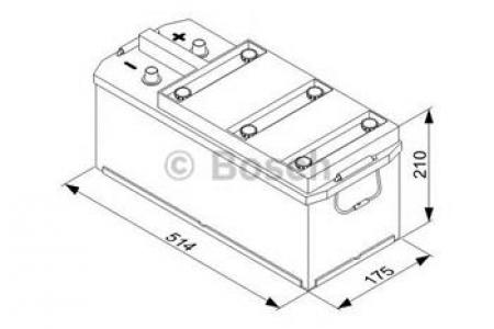 Аккумуляторная батарея Bosch T3, 12 В, 110 А/ч, 760 А, 0092T30380