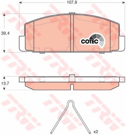 Колодки дисковые Задние, TRW, GDB3311
