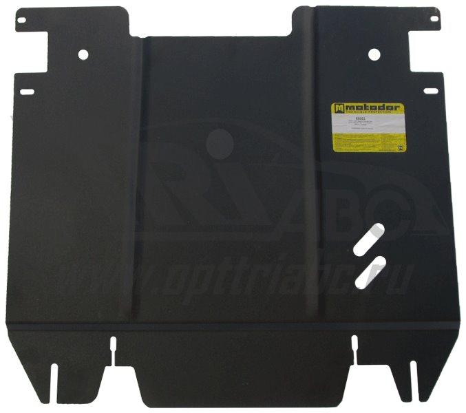 Защита картера двигателя, КПП CHERY A3 седан 2008- CHERY A3 хэтчбек 2008- V=1,6i (сталь 2 мм), MOTOD