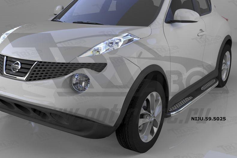 Пороги алюминиевые (Zirkon) Nissan Juke (2011-), NIJU595025