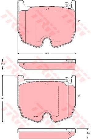Колодки дисковые Передние, TRW, GDB1541
