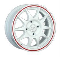 Колесный диск LS Wheels 204 7x16/5x105 D63.3 ET36 белый с красной полосой (WRL)