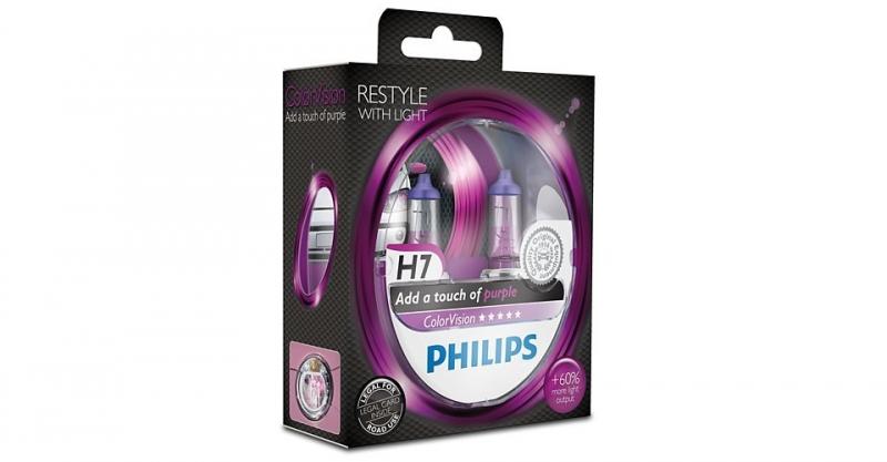"Лампа ""ColorVision"", 12 В, 55 Вт, H7, PX26d, PHILIPS, 12972CVPPS2"