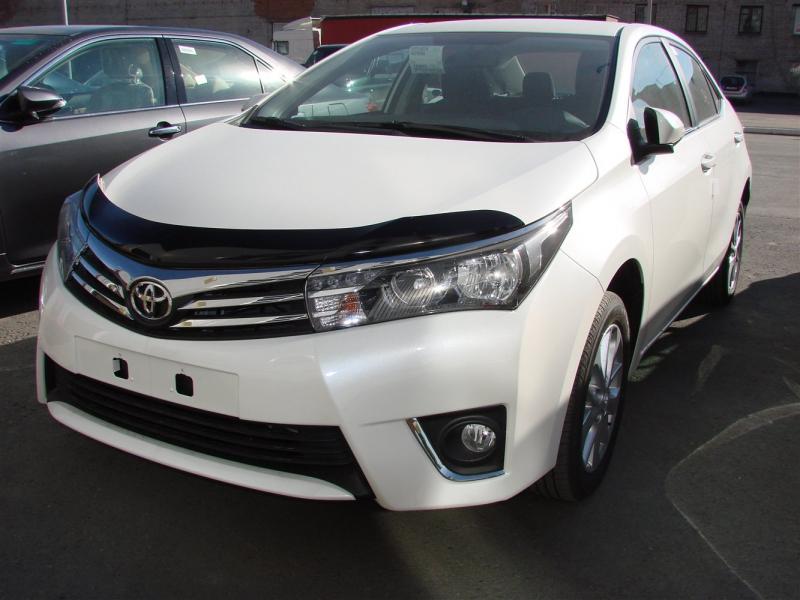 Дефлектор капота Toyota Corolla (Тойота Королла) (2013-) (темный), STOCOR1312