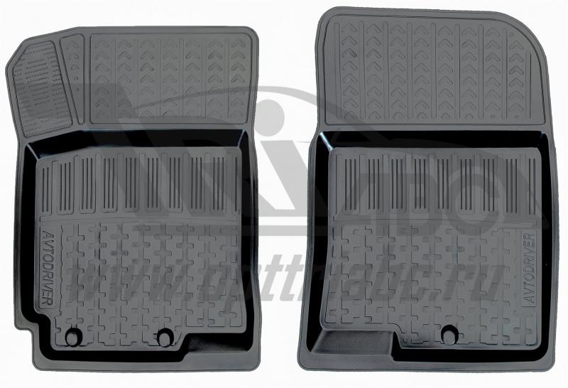 Коврики салона резиновые с бортиком для Hyundai Solaris (2010-) (2 передних), ADRPRO0022