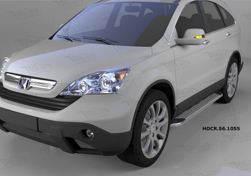 Пороги алюминиевые (Opal) Honda (Хонда) CR-V (2007-2012), HOCR561055