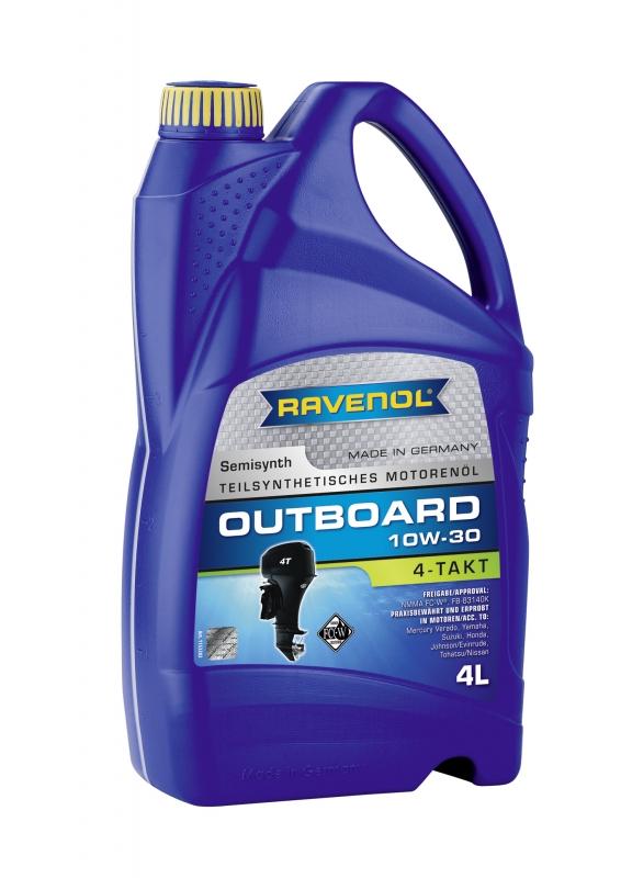 Моторное масло RAVENOL Outboardoel 4T, 10W-30, 4 л, 4014835729094