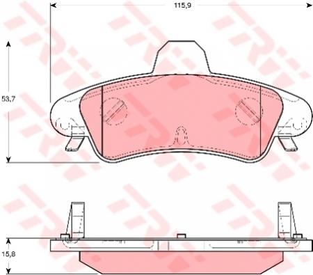 Колодки дисковые Задние, TRW, GDB1580