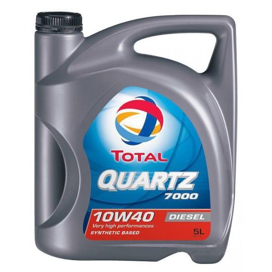 Моторное масло TOTAL QUARTZ 7000 Diesel, 10W-40, 5л, 173577