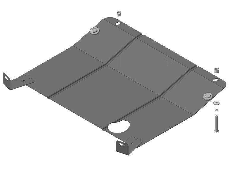 Защита картера двигателя, КПП Lada Granta 2011- Lada Kalina 2004- V= все (сталь 2 мм), MOTODOR62101