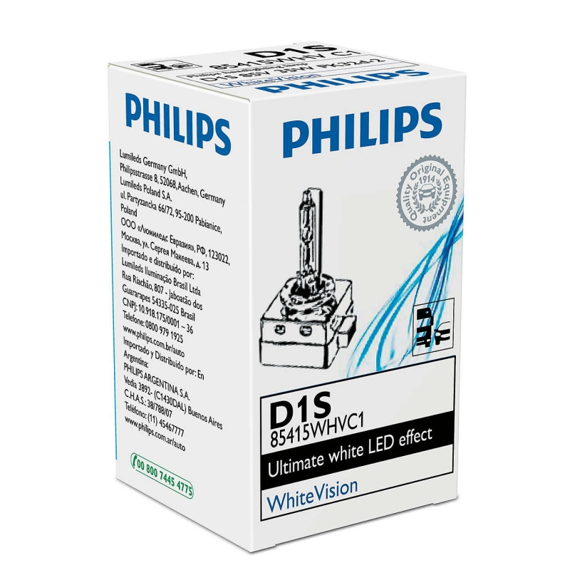 Лампа, 85 В, 35 Вт, D1S, P32d-2, PHILIPS, 85415WHVC1