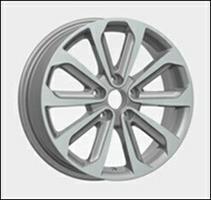 Колесный диск Ls Replica NS69 6.5x17/5x114,3 D64.1 ET45 серый глянец, полированнные спицы и обод (GM
