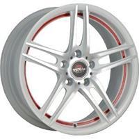 Колесный диск Yokatta Forged-502 6.5x16/5x105 D60.1 ET39 белый полностью полированный с красной поло