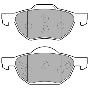 Колодки дисковые, DELPHI, LP1862