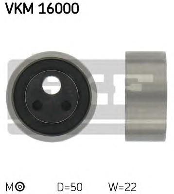 Ролик натяжной ремня ГРМ, SKF, VKM16000
