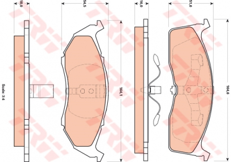 Колодки дисковые Передние, TRW, GDB4091