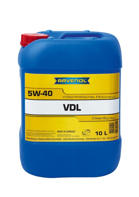Моторное масло RAVENOL VDL, 5W-40, 10л, 4014835723740