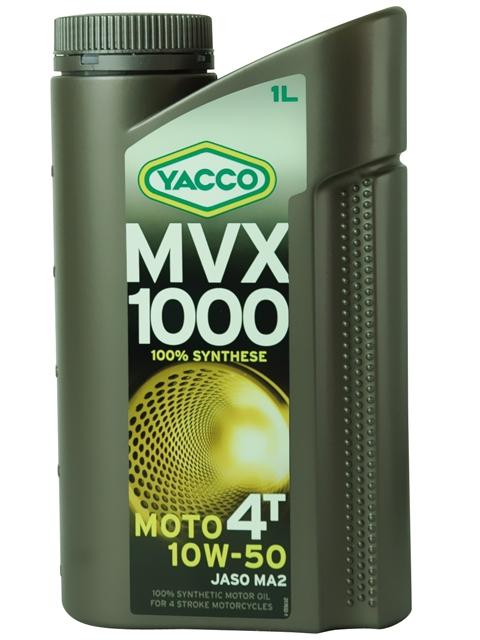 Масло для мотоциклов с 4-тактным двигателем YACCO MVX 1000 4T синт. 10W50, SL (1 л)