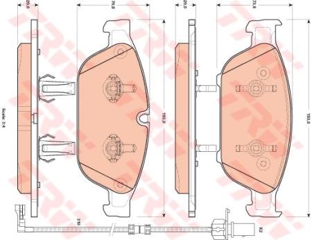 Колодки дисковые Передние, TRW, GDB1897