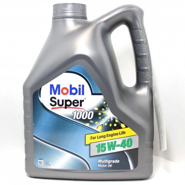Моторное масло Mobil Super 1000 X1, 15W-40, 4л