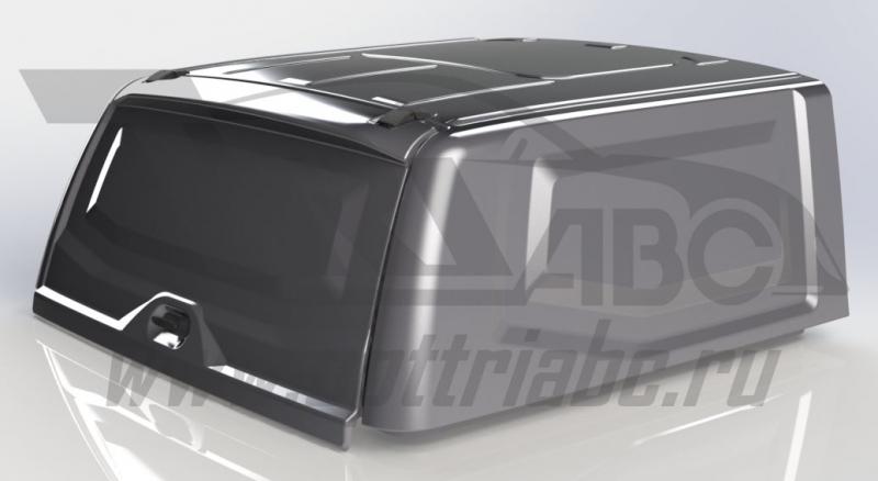 Крыша (кунг) кузова для UAZ Пикап (двойная кабина)(2015-) (чёрная)(1 дверь) Cargo АВС-Дизайн, ABCUAZ