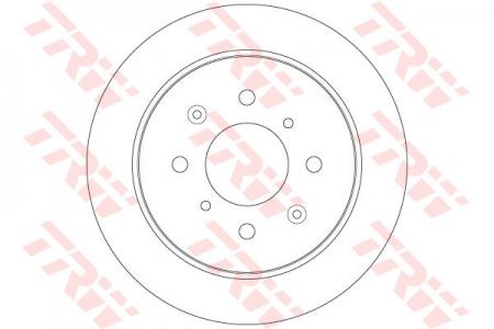 Диск тормозной задний, TRW, DF6378