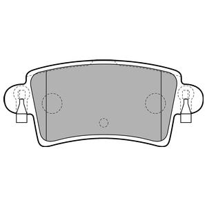 Колодки дисковые, DELPHI, LP1747