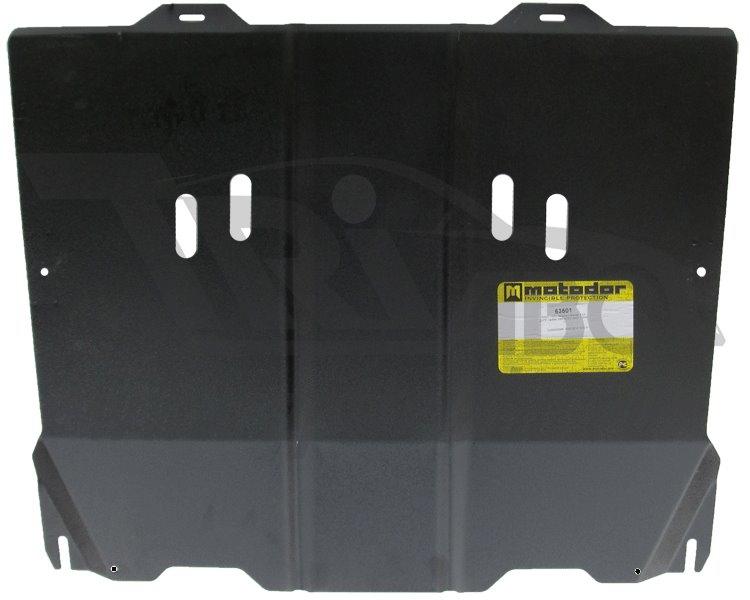 Защита картера двигателя, КПП CADILLAC SRX II 2010- V=3,0i (сталь 2 мм), MOTODOR63501