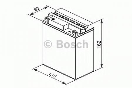 Аккумуляторная батарея Bosch Funstart FreshPack, 12 В, 12 А/ч, 120 А, 0092M4F330