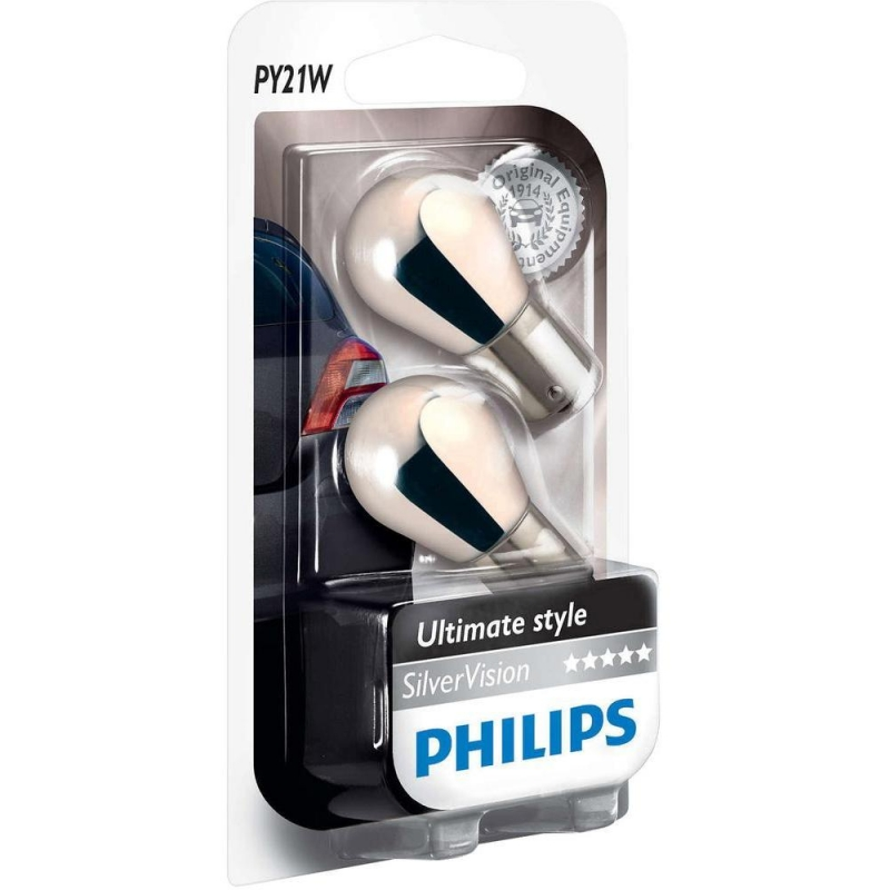 Лампа, 12 В, PY21W, PHILIPS, 31117730