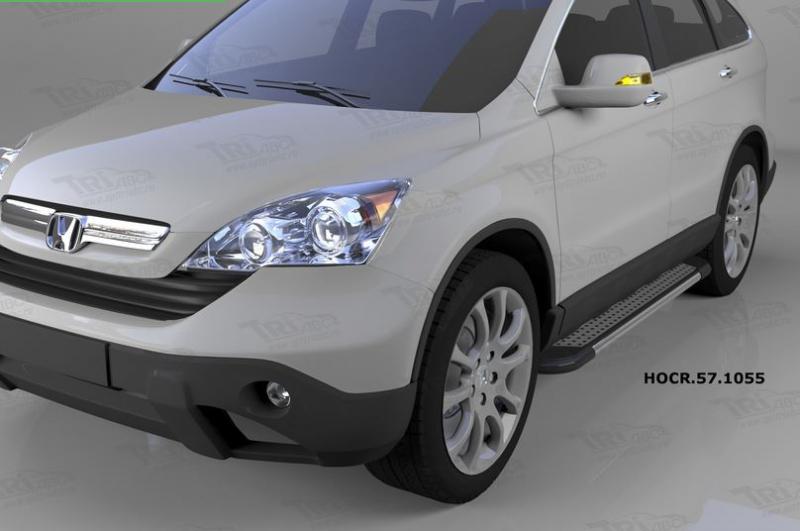 Пороги алюминиевые (Topaz) Honda (Хонда) CR-V (2007-2012), HOCR571055