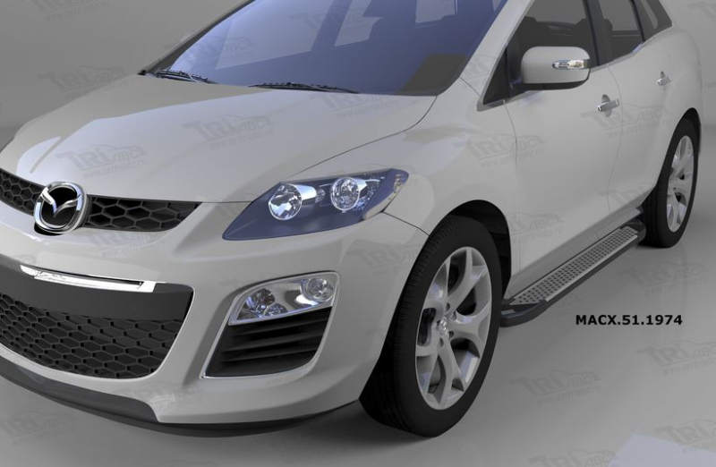 Пороги алюминиевые (Sapphire Silver) Mazda (Мазда) CX7 (2011-), MACX511974