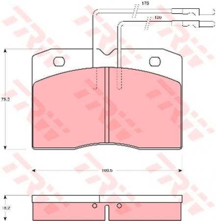 Колодки дисковые Передние, TRW, GDB343