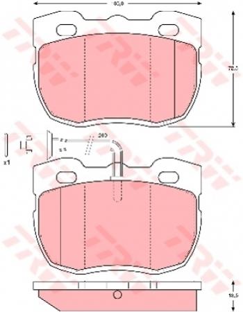 Колодки дисковые Передние, TRW, GDB1093