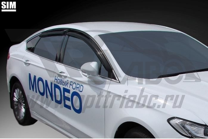 Дефлекторы боковых окон Ford Mondeo (2015-) / Ford Fusion (2012-) (4шт.) (темн.), SFOMON1532