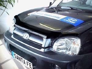 Дефлектор капота Hyundai Santa Fe (Хёндай Санта Фе) Classic ТагАЗ (2001-) (темный), SHYSAN0112