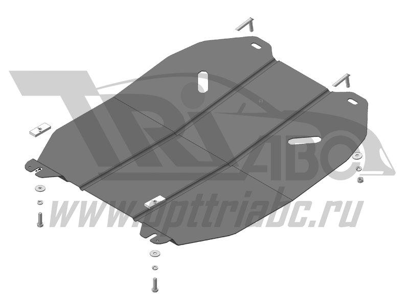 Защита картера двигателя, КПП Opel Meriva B 2010-/Zafira B 2005-5011 (сталь 2 мм), MOTODOR61501