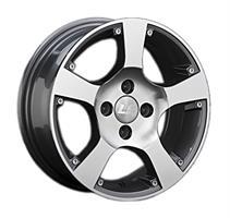 Колесный диск LS Wheels LS BY505 5.5x13/4x98 D72.6 ET35 серый глянец, полированнные спицы и обод (GM