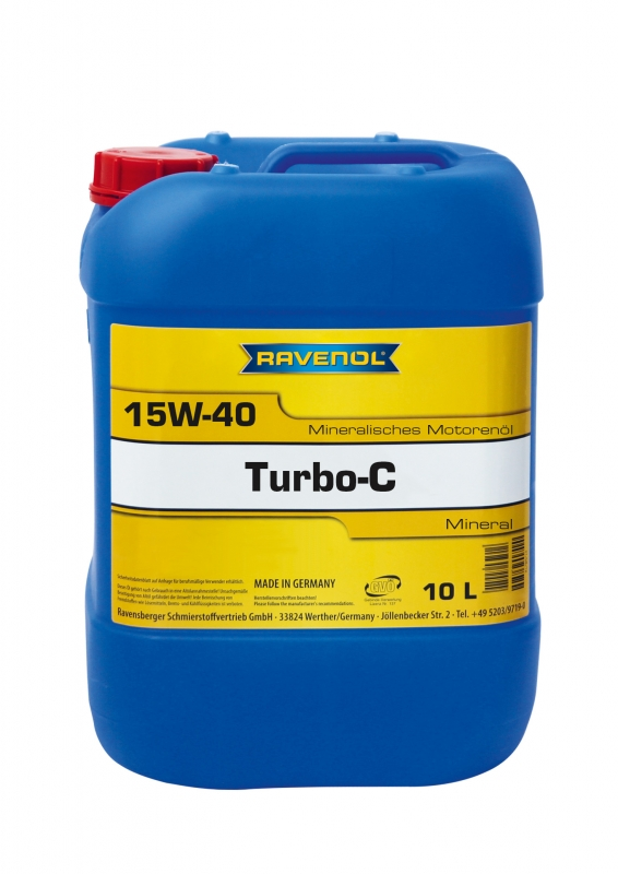 Моторное масло RAVENOL Turbo-C HD-C, 15W-40, 10л, 4014835724549