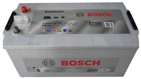 Аккумуляторная батарея Bosch L5, 12 В, 230 А/ч, 1150 А, 0092L50800