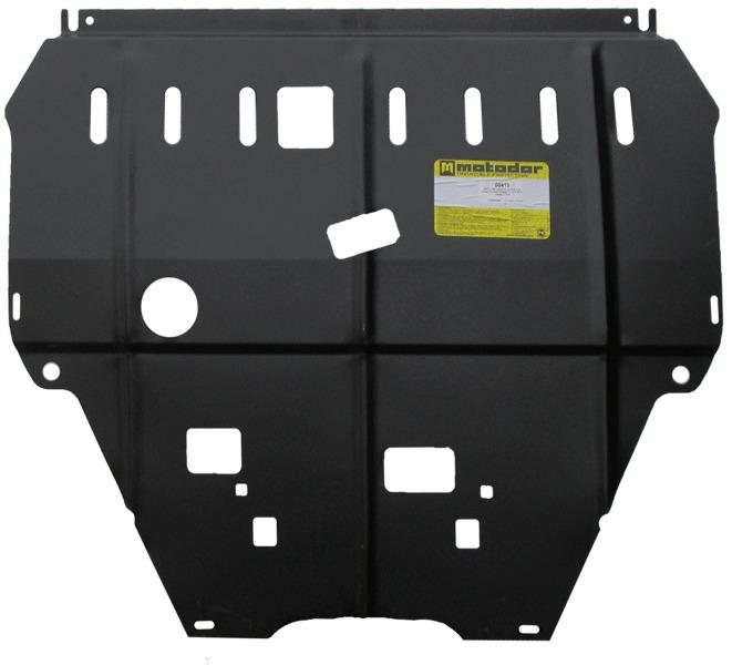 Защита картера двигателя, КПП Citroen C4 Grand Picasso 2006- V=1,6TD (сталь 2 мм), MOTODOR00413