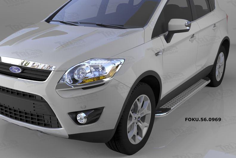 Пороги алюминиевые (Opal) Ford Kuga (2008-2013), FOKU560969