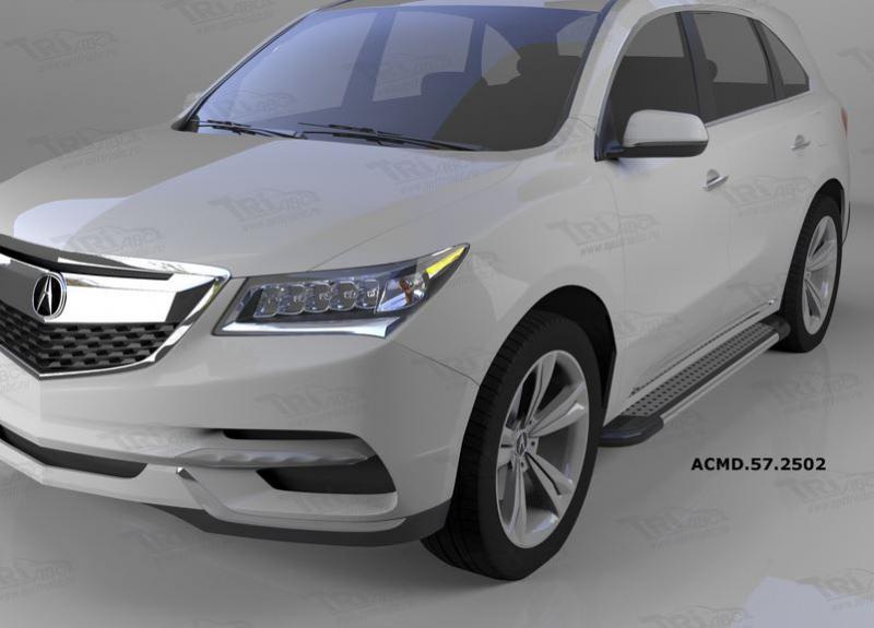 Пороги алюминиевые (Topaz) Acura MDX (2014-), ACMD572502