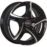 Колесный диск Yokatta MODEL-5 6x15/4x100 D57.1 ET50 черный полностью полированный (BKF)