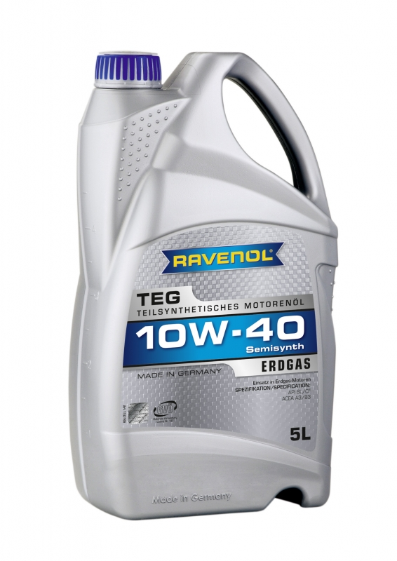 Моторное масло RAVENOL TEG, 10W-40, 5л, 4014835726550
