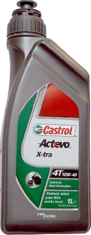 Масло моторное CASTROL Act>Evo X-tra 4T, 10W-40, 1л, 4662580060