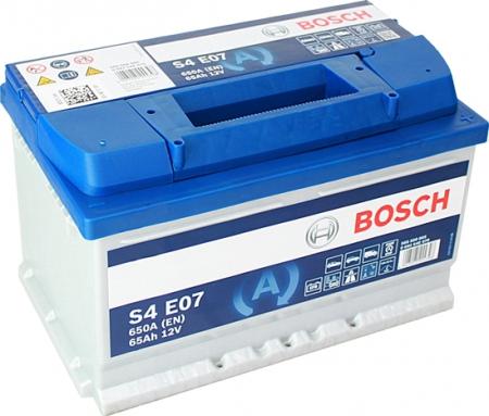 Аккумуляторная батарея Bosch S4 EFB, 12 В, 65 А/ч, 650 А, 0092S4E070