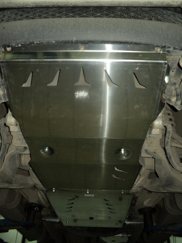 Защита КПП и РК Mitsubishi L-200 V-2,5TD;АКПП(06-)/Pajero Sport,V-2,5TD;АКПП(08-),из 2-х частей (Алю