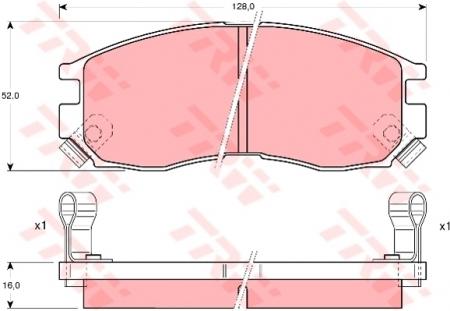 Колодки дисковые Передние, TRW, GDB1128