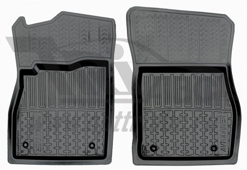 Коврики салона резиновые с бортиком для Opel Astra J (2009-) (2 передних), ADRPRO0052